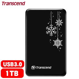 Transcend 創見 25A3 1TB 2.5吋 行動硬碟 限量雪花