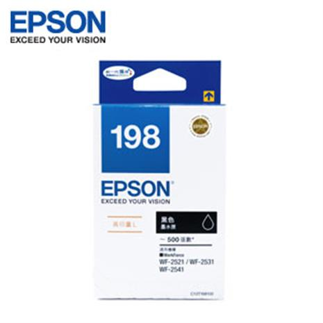 EPSON 原廠高印量黑色墨水匣 T198150 (WF-2521/2531/2541)