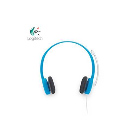 Logitech羅技  H150 立體聲耳機麥克風 (藍色)