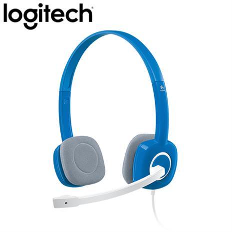 Logitech羅技  H150 立體聲耳機麥克風 (藍色)-3C電腦週邊-myfone購物