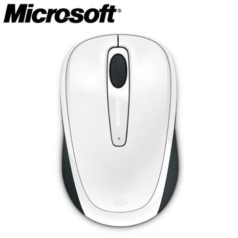 Microsoft微軟 3500 2.4G無線行動滑鼠 白色