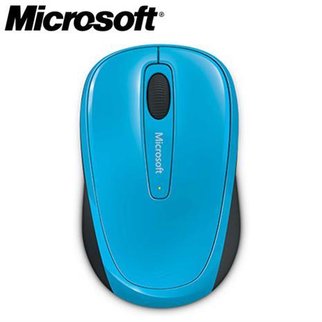 Microsoft微軟 3500 2.4G 繽紛色彩無線行動滑鼠 蔚藍色