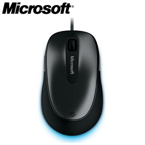 Microsoft微軟 舒適4500有線滑鼠 黑色