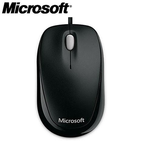 【2月精選-微軟登錄送好禮】Microsoft微軟 精靈鯊500 有線光學滑鼠 黑色