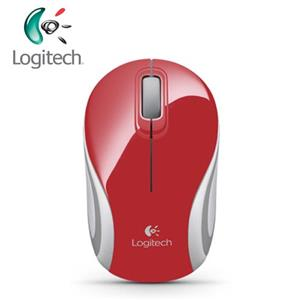 Logitech 羅技 M187 無線迷你滑鼠 紅色(輕巧/迷你接收器)