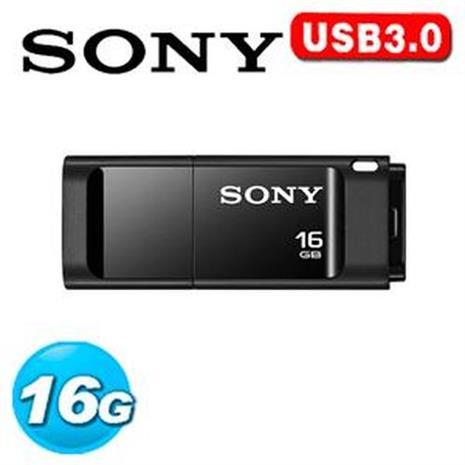 SONY USM-X 繽紛 USB 3.0 16GB 隨身碟 (黑色)