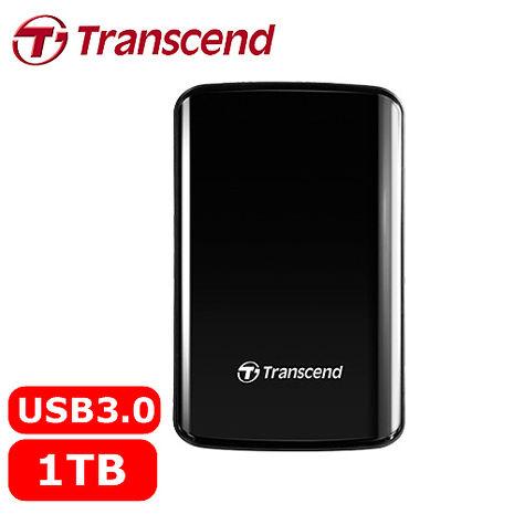 Transcend創見 25D3 1TB 2.5吋 懸吊式吸震行動硬碟 黑