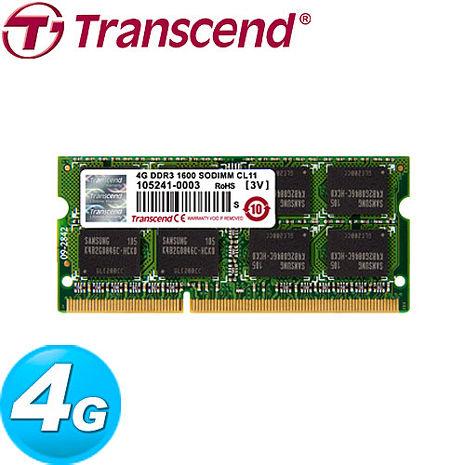 TRANSCEND創見 TS512MSK64W6H DDR3筆記型記憶體 4G