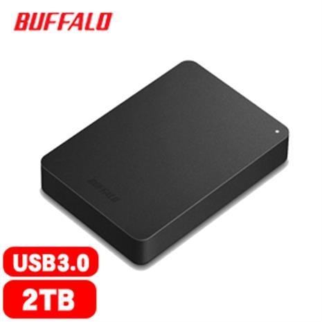 BUFFALO巴比祿 HD-PNFU3 2.5吋 2TB 防震加密 行動硬碟 黑