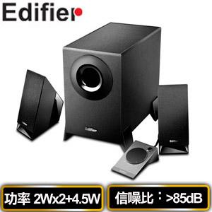Edifier漫步者 M1360 2.1聲道電腦喇叭 黑色 (線控器)
