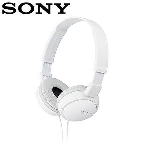 SONY新力 MDR-ZX110-W 多彩耳罩式耳機 白