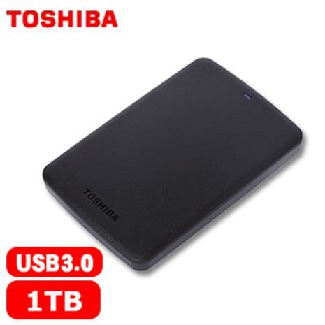 TOSHIBA東芝 A2 Basic 2.5吋 1TB 行動硬碟 黑-3C電腦週邊-myfone購物