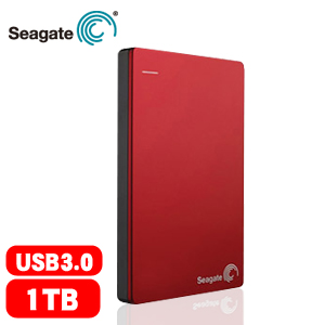 Seagate Backup Plus Slim 2.5吋 1TB 行動硬碟 紅