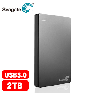 Seagate Backup Plus Slim 2.5吋 2TB 行動硬碟 銀