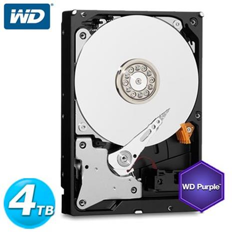 WD 紫標 3.5吋 4TB SATA3 監控系統 內接硬碟 40PURX