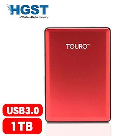 HGST 昱科 Touro S 1TB 7200轉 2.5吋 行動硬碟 紅