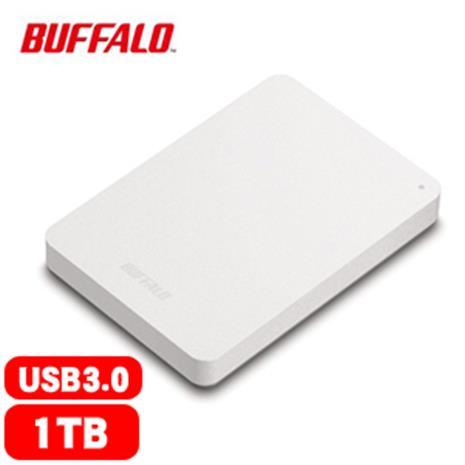 BUFFALO巴比祿 HD-PNFU3 2.5吋 1TB 防震加密 行動硬碟 白
