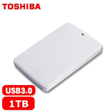 TOSHIBA東芝 A2 Basic 2.5吋 1TB 行動硬碟 白-3C電腦週邊-myfone購物