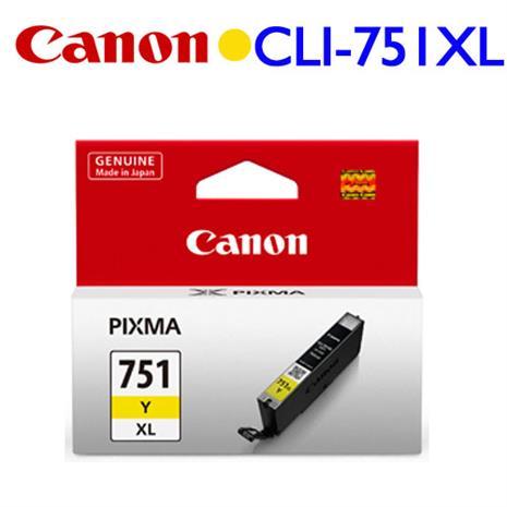 CANON 原廠墨水匣 CLI-751Y XL (黃色墨水匣)