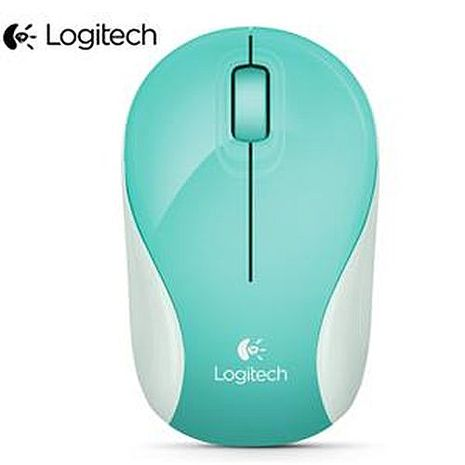 Logitech羅技 M187 無線迷你滑鼠 藍綠色(輕巧/迷你接收器)