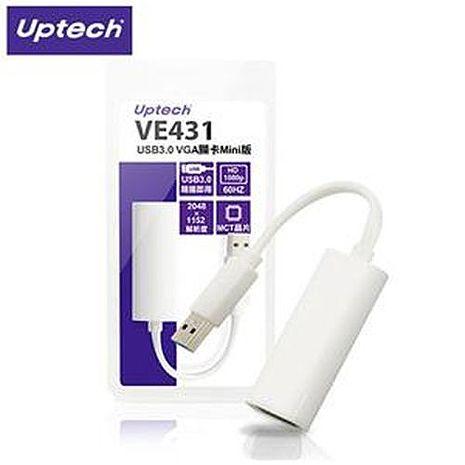 Uptech登昌恆 VE431 USB3.0 VGA 外接顯示擴充卡 Mini版