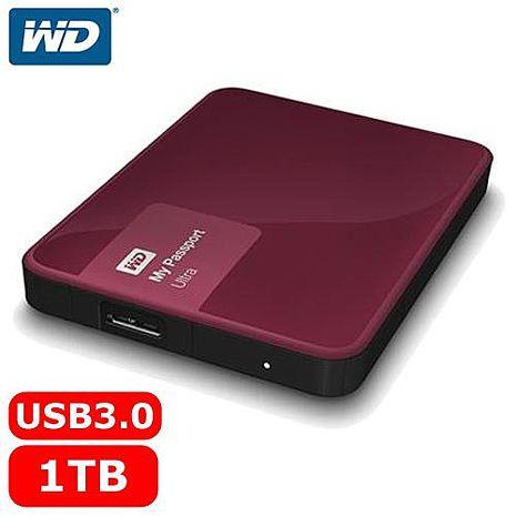 WD My Passport Ultra 2.5吋 1TB 行動硬碟 野莓紅