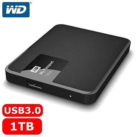 WD My Passport Ultra 2.5吋 1TB 行動硬碟 經典黑