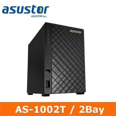 ASUSTOR華芸 AS-1002T 2Bay 網路儲存伺服器