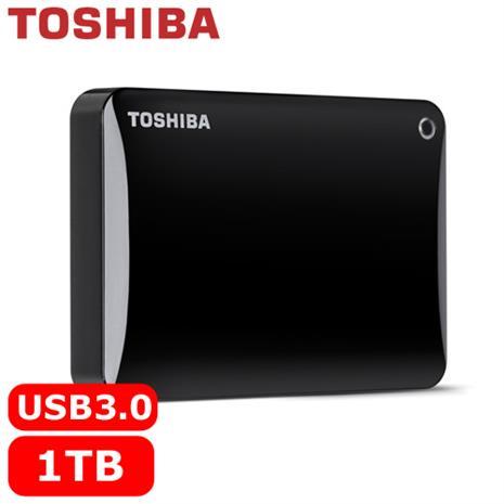 TOSHIBA CanvioConnectII V8 2.5吋 1TB行動硬碟黑