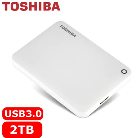 TOSHIBA CanvioConnectII V8 2.5吋 2TB行動硬碟白