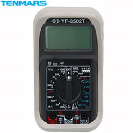 【多功能進階款】Tenmars YF-3502T 多功能數位三用電錶+溫度-居家日用.傢俱寢具-myfone購物