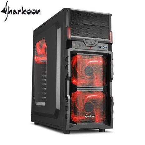 Sharkoon旋剛 VG5-W red 勁風者(紅) 電腦機殼