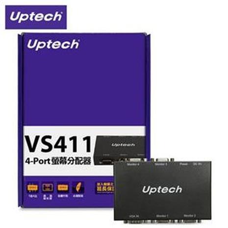Uptech 登昌恆 VS411 4-Port 螢幕分配器-3C電腦週邊-myfone購物