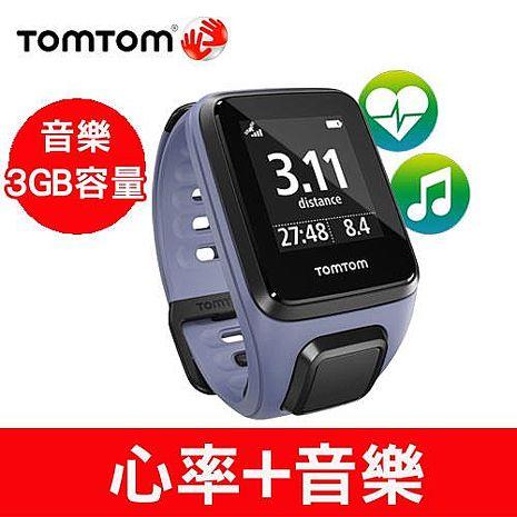 TOMTOM SPARK 音樂心率健身運動手錶(紫色細錶帶)