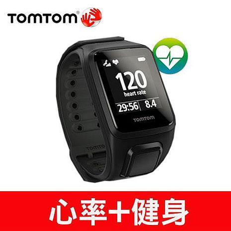 TOMTOM SPARK CARDIO 心率健身運動手錶(黑色寬錶帶)