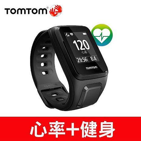 TOMTOM SPARK CARDIO 心率健身運動手錶(黑色細錶帶)