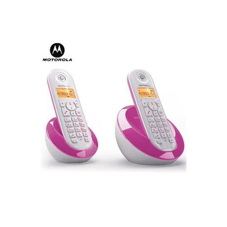 MOTOROLA 數位雙手機無線電話 C-602 粉