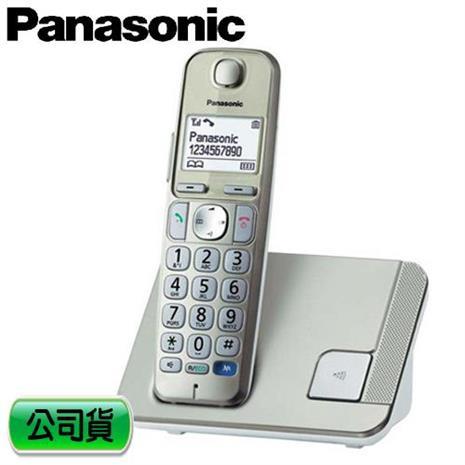Panasonic 國際牌 繁體中文數位無線電話 KX-TGE210TW 金