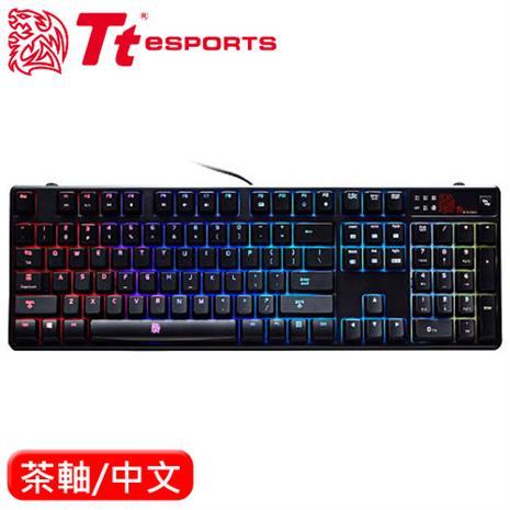 Thermaltake 曜越 波賽頓Z RGB全彩炫光機械鍵盤 茶軸