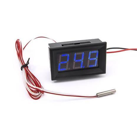 防水型0.56三位元 LED溫度錶頭/PT100(黑殼藍光)
