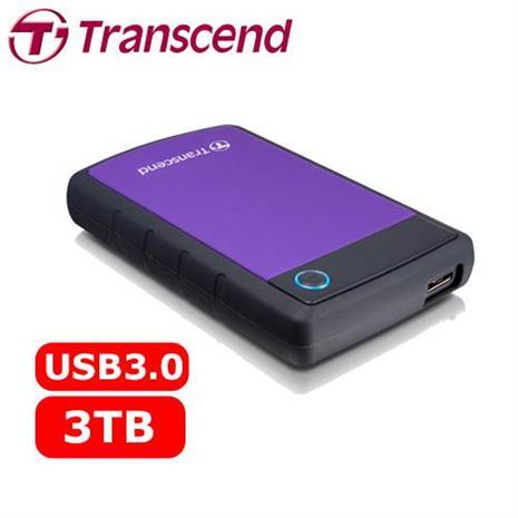 Transcend 創見 2.5吋 USB3.0 25H3P / 3TB 軍規防震/防摔 外接式硬碟