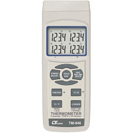 Lutron 四視窗顯示溫度計 TM-946