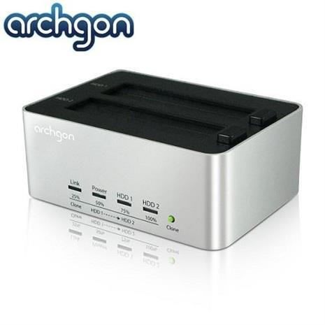 archgon 2.5吋/3.5吋 USB 3.0雙SATA硬碟外接座Docking Station MH-3621 Clone