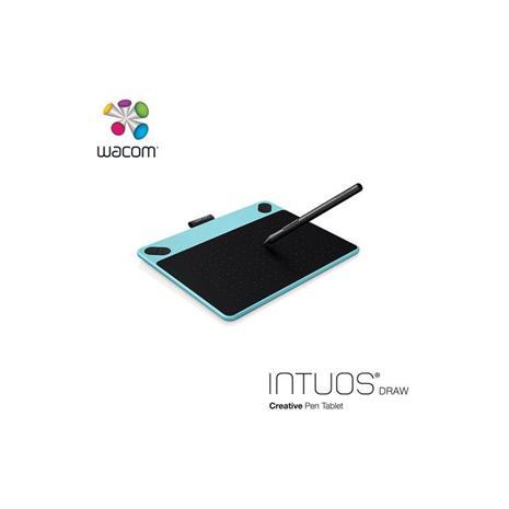 Wacom Intuos Draw 塗鴉創意繪圖板-藍(小)