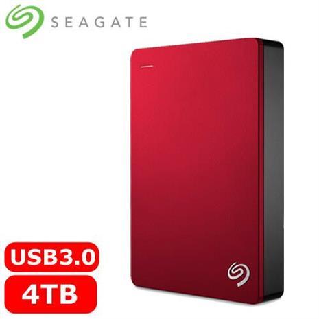 Seagate希捷 Backup Plus 2.5吋 4TB 可攜式硬碟機(紅)