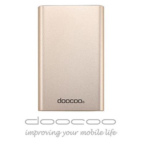 doocoo coherer 10000+ 雙輸出鋁合金 智能行動電源 (支援快速充放電) - 金色