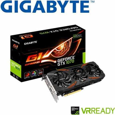 GIGABYTE技嘉 GV-N1070G1 GAMING-8GD 顯示卡