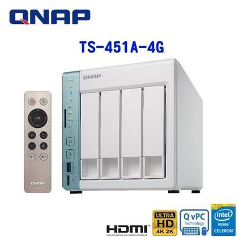QNAP威聯通 TS-451A-4G 4Bay網路儲存伺服器