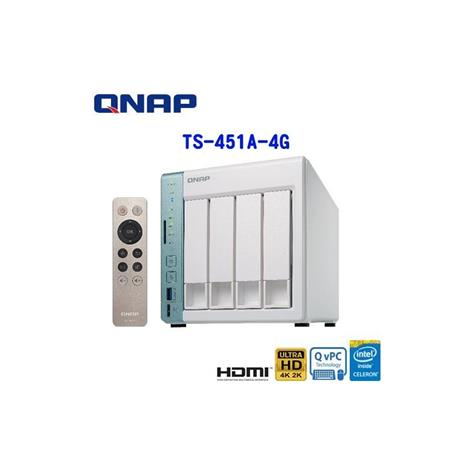 QNAP威聯通 TS-451A-4G 2Bay網路儲存伺服器