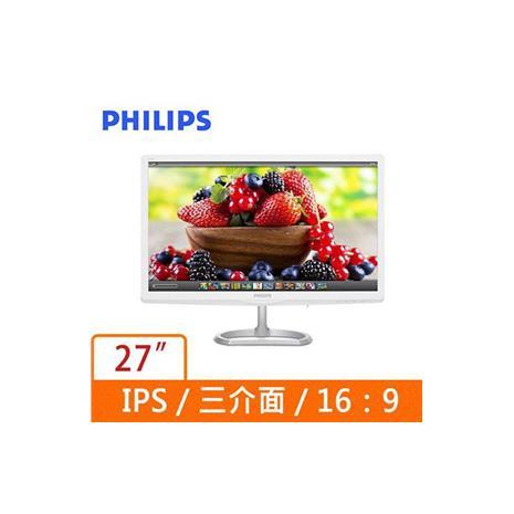 PHILIPS  27型廣視角白色液晶螢幕 276E6ADSS